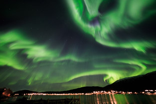 Aurora Borealis or Northern Lights Images taken in Tromso Northern Norway