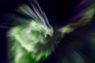 Aurora Borealis or Northern Lights Images taken in Tromso Northern Norway
