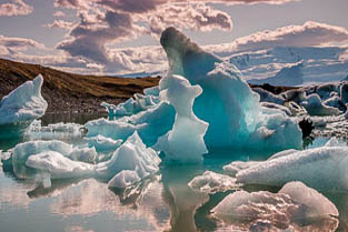 Iceland - jokulsarlon ice lagoon from vatnajokull glacier