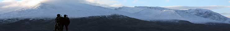Stock Image Ref : Winter Scotland 570  -  panoramic view from commando memorial