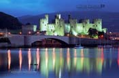 6. conwy castle at dusk
